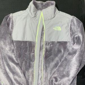 North Face Grey Fuzzy Fleece Jacket